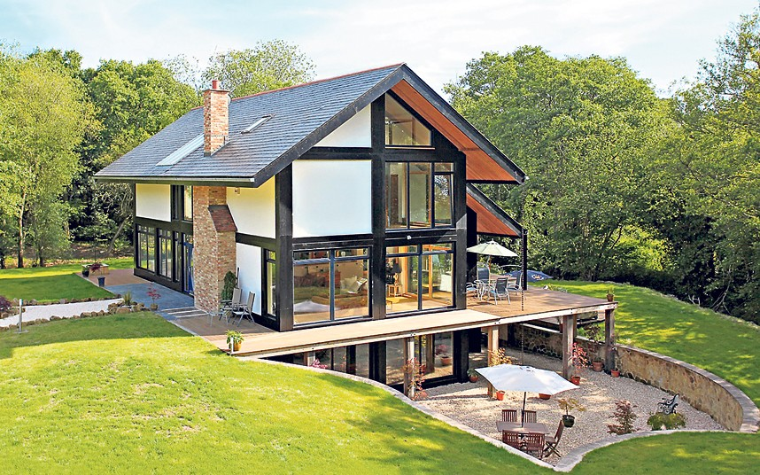Charming Image Courtesy Of The TelegraphNew Build Eco Home Construction Work  Foundations Process